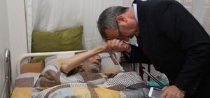 Başkan Köşker, evde tedavi gören hastaları ziyaret etti