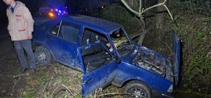 16 yaşındaki ehliyetsiz genç babasından izinsiz aldığı otomobil ile kaza yaptı