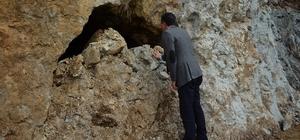 Yol çalışmalarında mağara bulundu