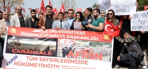 Üniversitelilerden Mehmetçiğe ve Erdoğan'a Afrin teşekkürü