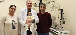 53 günlük bebeğe katarakt ameliyatı
