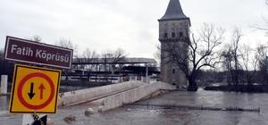 Edirne'de Sarayiçi sular altında