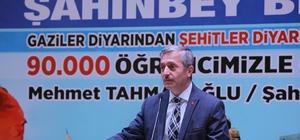Tuğgeneral Ekiyor ve Belediye Başkanı Tahmazoğlu öğrencilerle buluştu