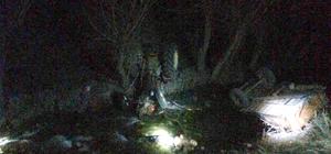 Dereye devrilen traktörün sürücüsü öldü