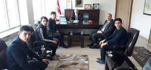 Kaymakam Güven, öğrenci meclis başkanını ağırladı