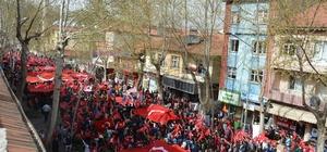 Gölbaşı'nda 'şehitlere saygı' yürüyüşü gerçekleştirildi