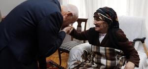 Başkan Yaşar, 108 yaşındaki Mahya nineyi ziyaret etti