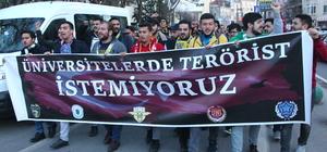 Üniversite öğrencileri, Boğaziçi Üniversitesi'nde yaşanan olayı protesto etti