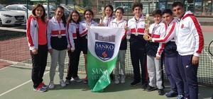 SANKO Okulları Yıldız Kız Ve Yıldız Erkek Tenis Takımları İl İkincisi
