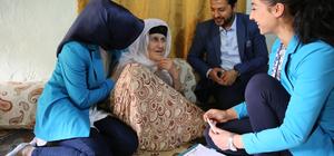 Görevlendirme yapılan belediye yaşlıları unutmadı