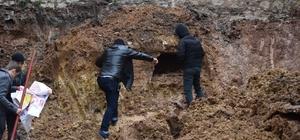 Kocaeli'de inşaat kazısında çıkan tarihi yapıda insan kemikleri bulundu
