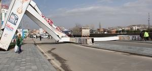 Sivas'ta şiddetli rüzgar