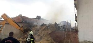 Salihli'de samanlık yangını korkuttu