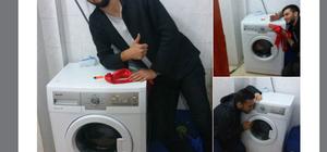 Üniversite öğrencilerine çamaşır makinesi jesti