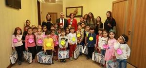 Başkan Baran, minik misafirlerini ağırladı