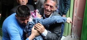Gölete düşen otomobildeki baba ve çocukların cenazeleri gözyaşlarıyla alındı