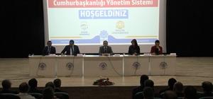 Beyşehir'de Cumhurbaşkanlığı Yönetim Sistemi konulu konferans