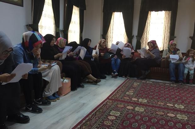 """Tokat'ta mahalle konaklarında """"okuma halkası"""" projesi"""