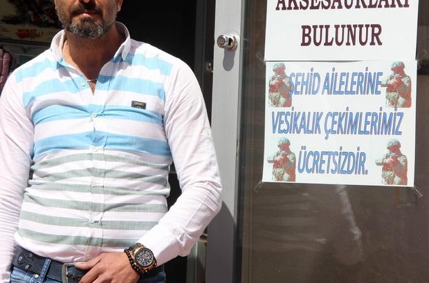 """Esnaftan şehit aileleri için örnek olacak destek Fotoğrafçı Ümit Halil Uzun: """"Bu vatan hepimizin"""""""
