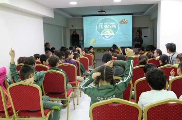 Öğrencilere deniz ekosistemi hakkında seminer verildi