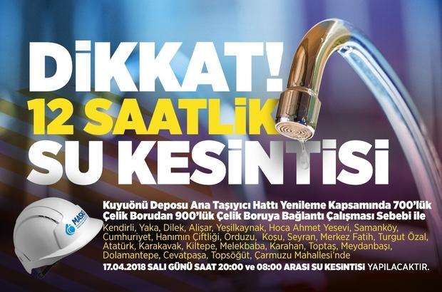 Malatya'da 12 saatlik su kesintisi yaşanacak