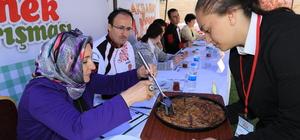 Aksaray'da yöresel yemekler yarıştı