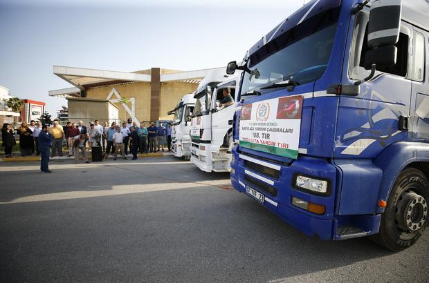 Antalya'dan Doğu Gutalı ailelere insani yardım malzemesi