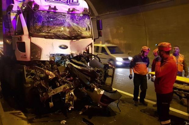 Bolu Dağı Tüneli'nde kaza: 1 ölü