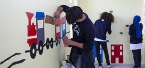 YTÜ öğrencileri Ahlat'ta anaokulunun iç dizaynını yapıyor
