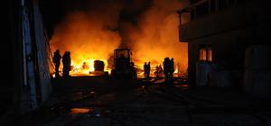 Kocaeli'de atık tesisinde yangın