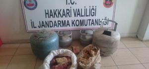 Hakkari'de 19 kilo plastik patlayıcı ele geçirildi