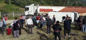 Antalya'da akaryakıt tankeri ile öğrenci servisi çarpıştı: 1'i ağır 16 yaralı (2) Yaralı öğrenci 16 yolcu kapasiteli minibüste 6 kişinin ayakta yolculuk yaptığını ve dışarıdan yolcu alındığını iddia etti