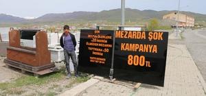 Mermerciden mezar taşı için yüzde 50 kampanya Varto'da 2017 yılında ölenlere yüzde 20 indirim yapan mermerci, bu sene vefat edecekler için yapılacak mezar taşında da yüzde 50 indirim kampanyası başlattı