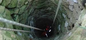 15 metrelik kuyuya düşen ineği AFAD ekipleri kurtardı