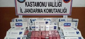 Kastamonu'da 815 paket kaçak sigara ele geçirildi