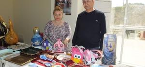 Polis emeklisi çiftin sergisi ilgi gördü