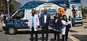 Batman'da hayvanlar için ambulans Yaralanan hayvanlara ilk müdahale ambulansta yapılacak