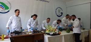 Aşçılar mutfak hünerlerini sergiledi