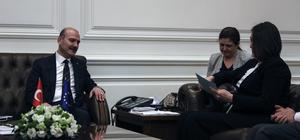 İçişleri Bakanı Soylu'nun kabulü