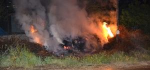 Adana'da ahır yangını