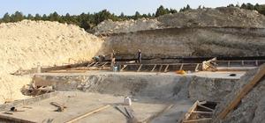 Hisarcık'ta içme suyu deposu yapım çalışmaları