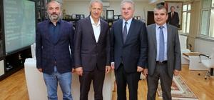 Prof. Dr. Muzaffer Elmas'tan Başkan Dişli'ye ziyaret