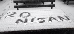 Uludağ'a nisan karı Bahar ortasında kar yağdı
