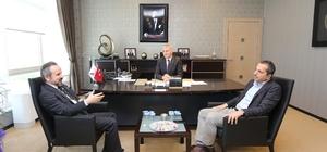 """""""Bölge Adliye Mahkemesi açılırsa ilin ticaretini canlandırır"""" Başkan Kazan'dan SATSO Yönetim Kurulu Başkanı Akgün Altuğ'a ziyaret"""