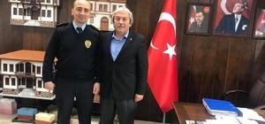 İlçe Emniyet Müdürü Bölükbaşı, Başkan Şahin'i makamında ziyaret etti