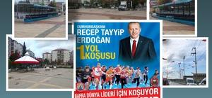 Bafra, 'Cumhurbaşkanı Erdoğan Yol Koşusu'na hazır