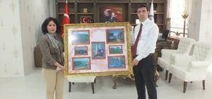 Müdür Acaroğlu'ndan Kaymakam Kırlı'ya ziyaret