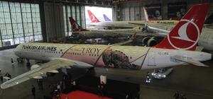 Türk Hava Yolları'nın 'Troya' temalı uçağı göklerde