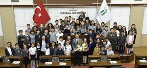 Başkan Ataç çocuklara belediyeciliği anlattı