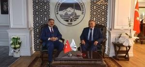 Bakan Özhaseki, Başkan Büyükkılıç'ı makamında ziyaret etti